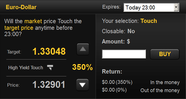 One Touch Trading