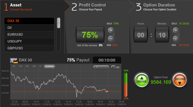 Binary options $1 minimum trade