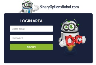 Start by Logging into the Binary Options Robot